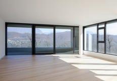 Innenraum eines modernen Hauses, gerade ein Raum leer lizenzfreie stockbilder