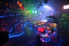Innenraum eines Nachtclubs Stockfotos