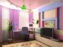 Innenraum eines Raumes der Kinder Lizenzfreies Stockbild