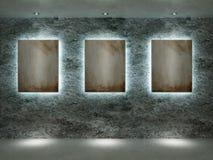 Innenraum eines Raumes mit Abbildungen Lizenzfreie Stockfotografie