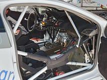 Innenraum eines Rennwagens Lizenzfreie Stockfotos