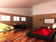 Innenraum eines schlafenden Raumes Lizenzfreie Stockfotos