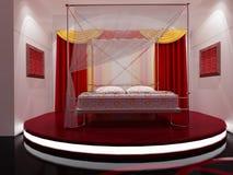 Innenraum eines schlafenden Raumes Stockbild
