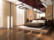 Innenraum eines Schlafzimmers Lizenzfreies Stockbild