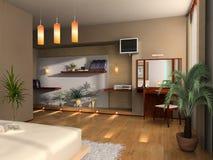 Innenraum eines Schlafzimmers Lizenzfreie Stockfotos