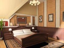 Innenraum eines Schlafzimmers Stockfoto