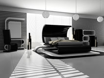 Innenraum eines Schlafzimmers Lizenzfreies Stockfoto