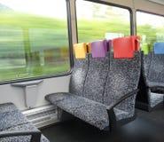Innenraum eines Thurbo-Zugs die Schweiz stockfotografie