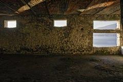Innenraum eines verlassenen Gebäudes Lizenzfreie Stockbilder