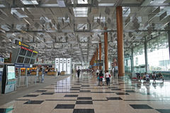 Innenraum Flughafens des Singapur-Changi Lizenzfreie Stockbilder