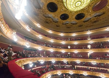 Innenraum Gran Teatre Del Liceu Lizenzfreie Stockfotografie