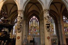 Innenraum Kathedrale der Str.-Michael und Str. Gudula lizenzfreie stockfotografie