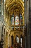 Innenraum Kathedrale der Str.-Vitus in Prag Lizenzfreie Stockfotografie
