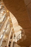 Innenraum La Sagrada Familia Stockbild