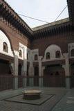 Innenraum Madrasa Bou Inania in Meknes, Marokko stockfoto