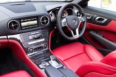 Innenraum 2014 Mercedes-Benzs SL 400 lizenzfreie stockbilder