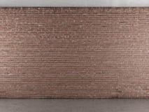 Innenraum mit Backsteinmauer Stockfotografie
