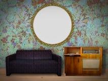 Innenraum mit Bilderrahmen Stockbilder