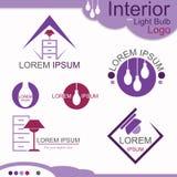 Innenraum mit Glühlampe-Logo - Vektor Lizenzfreies Stockbild