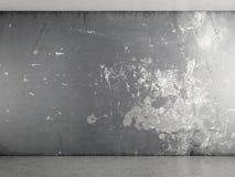Innenraum mit grauer Pflasterwand Stockfotografie
