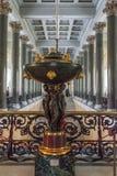 Innenraum mit Skulptur der Zustands-Einsiedlerei, St Petersburg, Lizenzfreie Stockbilder