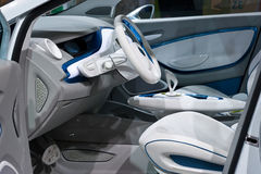 Innenraum Renault-Zoe Lizenzfreie Stockfotos