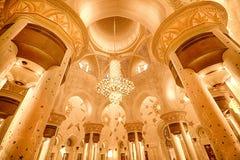 Innenraum in Sheikh Zayed Grand Mosque in Abu Dhabi, UAE Stockfotografie
