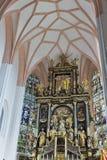 Innenraum St. Michael Basilica bei Mondsee, Österreich lizenzfreie stockfotos