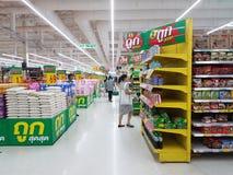 Innenraum Supermarkt-Tescos Lotus Extra Stockfotos