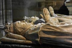Innenraum und Details der Basilika von St Denis Paris, Fran Stockbild