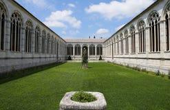 Innenraum und Details des Camposanto, Pisa, Italien Lizenzfreie Stockbilder