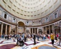 Innenraum und Details des Pantheons lizenzfreies stockfoto