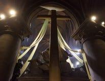 Innenraum und Details von Notre- Damede Paris Stockfoto