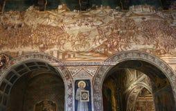 Innenraum und Details von Palazzo Pubblico, Siena, Italien Lizenzfreies Stockfoto