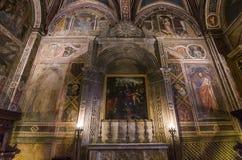 Innenraum und Details von Palazzo Pubblico, Siena, Italien Stockfotos