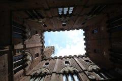 Innenraum und Details von Palazzo Pubblico, Siena, Italien Lizenzfreie Stockbilder
