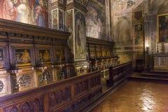 Innenraum und Details von Palazzo Pubblico, Siena, Italien Stockfoto
