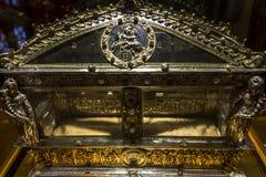 Innenraum und Details von Siena-Kathedrale, Siena, Italien Lizenzfreies Stockfoto