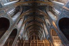 Innenraum von Albi-Kathedrale (Kathedralen-Basilika von St Cecilia) stockfotografie
