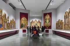 Innenraum von Art Gallery der Akademie in Florence Accademia d lizenzfreies stockbild