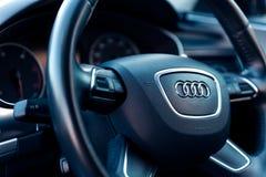 Innenraum von Audi A6 stockbild