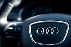 Innenraum von Audi A6 lizenzfreies stockfoto