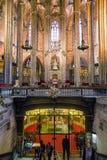 Innenraum von Barcelona-Kathedrale, Spanien Lizenzfreies Stockfoto