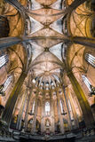 Innenraum von Barcelona-Kathedrale, Spanien Stockfotografie