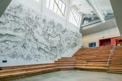 Innenraum von Berkeley Art Museum und von pazifischem Film-Archiv Stockfotos