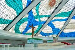 Innenraum von Brasilien-Kathedrale stockbild