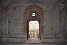 Innenraum von Castel del Monte, Apulien, Italien Stockfotos