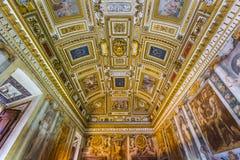 Innenraum von Castle de Sant Angelo in Rom Italien Lizenzfreie Stockbilder