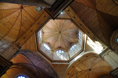 Innenraum von Castro-Kathedrale, Chiloe Chile Lizenzfreies Stockbild