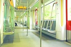 Innenraum von der Metro in den Niederlanden Lizenzfreies Stockbild